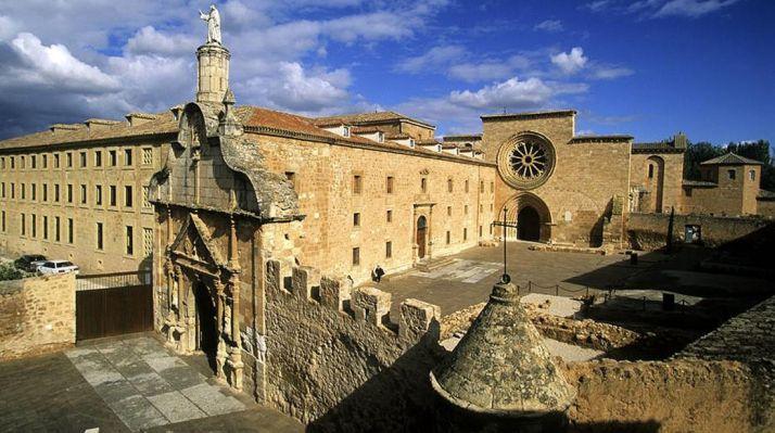 Imagen del monasterio de Santa María de Huerta.