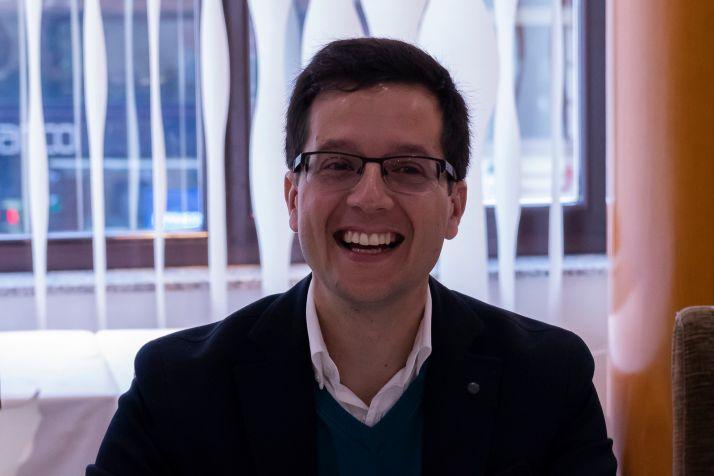 Tomás Cabezón durante la pasada campaña electoral.