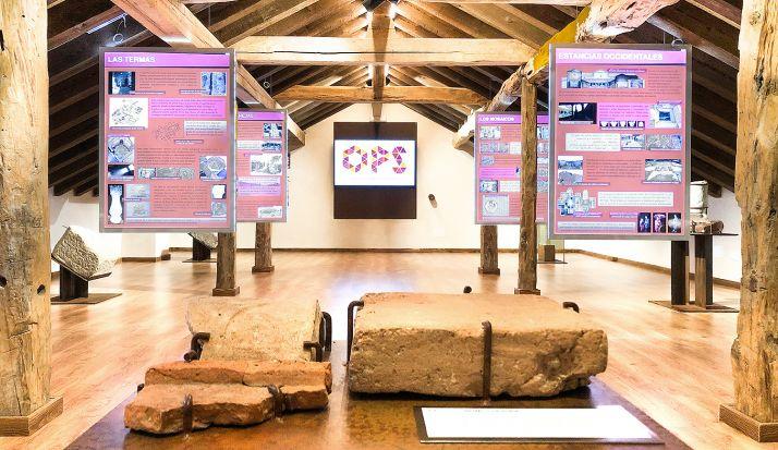 Espacio expositivo de la villa romana de Los Quintanares, en Ríoseco de Soria. /Dip.
