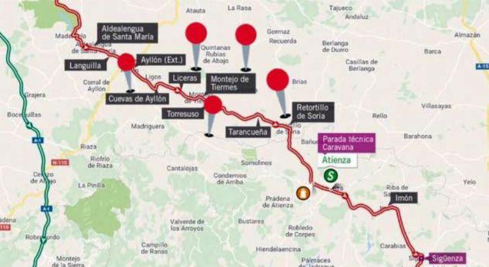 El recorrido de la Vuelta para el día 11.