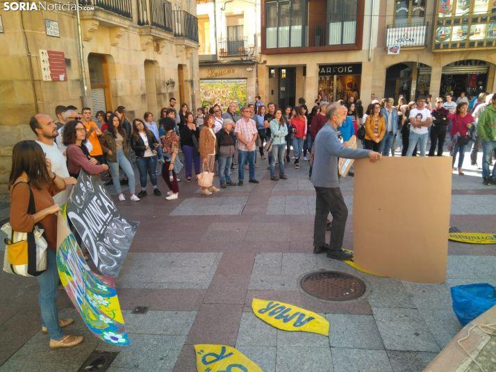Concentración contra el cambio climático en Soria.