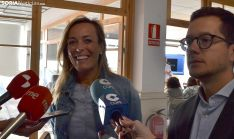Navarro, junto a Cabezón, este miércoles en El Hueco. /SN
