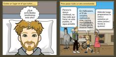 Dos viñetas del cómic de Fuentecantos.