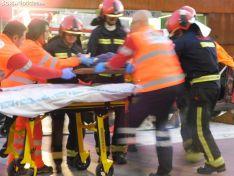 Una imagen del simulacro en Mariano Granados. /SN