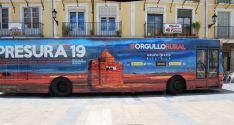 Autobús de la Repoblación en El Burgo de Osma.