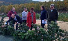 Una imagen de la visita con el dirigente ministerial (dcha.) y responsables del proyecto.