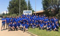 La plantilla de Exide empleada en la factoría sanestebeña.