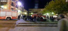 Una imagen de la plaza Mayor está tarde. /SN