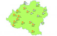 Pronóstico a las 13:00 horas. /eltiempo.es