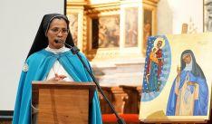Sor Vianney en el templo parroquial de Los Milagros el Domingo de Resurrección. /DOS