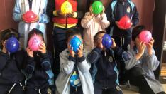 El colegio Calasancio de Almazán muestra su apoyo a su paisano Dani Mateo.