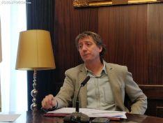 Carlos Martínez durante la rueda de prensa de hoy.