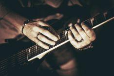 Guitarra de rock.