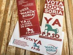 Publicidad electoral de la Plataforma del Pueblo Soriano