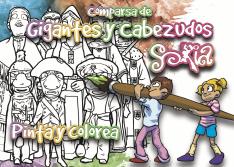 El Ayuntamiento edita recortables y juegos de pintar para repartir durante los desfiles de los gigantes y cabezudos.