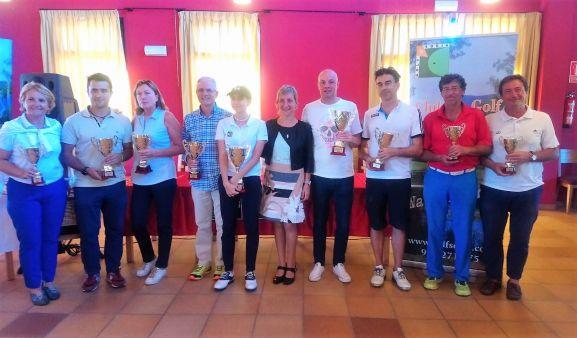Ganadores del Torneo de Golf de San Saturio.