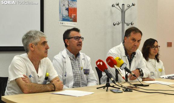 Pedro Escribano, José Luis Pérez, Enrique del Hoyo y Silvia Alconchel en la presentación del congreso, este martes. /SN