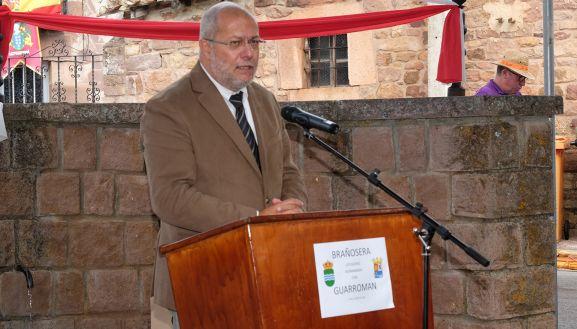 Igea, durante su intervención en la localidad Palentina. /Jta.