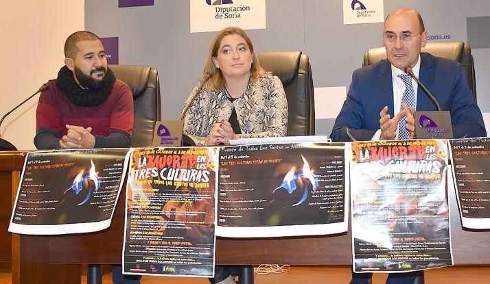 Alonso (dcha.), María José Jiménez y Ernesto López. /Dip.