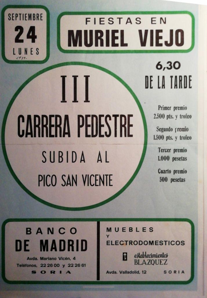 El cartel anunciador de la prueba hace 40 años