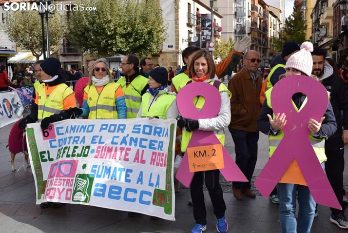 Anterior edición del Camino por Soria contra el Cáncer.
