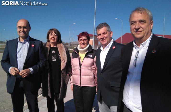 Candidatos del PSOE Soria durante la anterior campaña electoral.