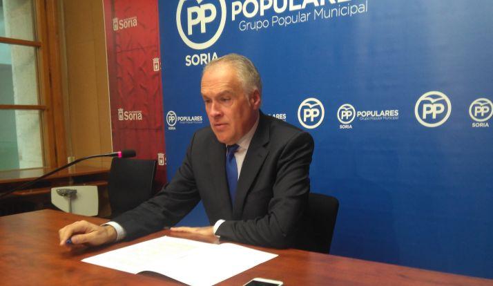 Javier Muñoz Remacha durante la rueda de prensa.