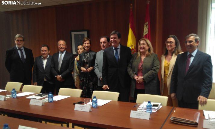 Carriedo junto a los demás integrantes del Comité de Seguimiento del Plan Soria.