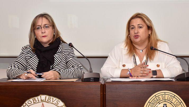 Soledad Borque (izda.) y Yolanda de Gregorio. /Jta.