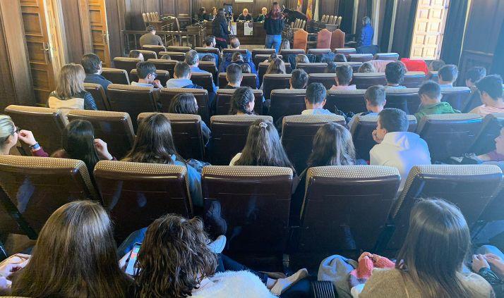 Una imagen del acto en el ayuntamiento este martes. /Ayto.