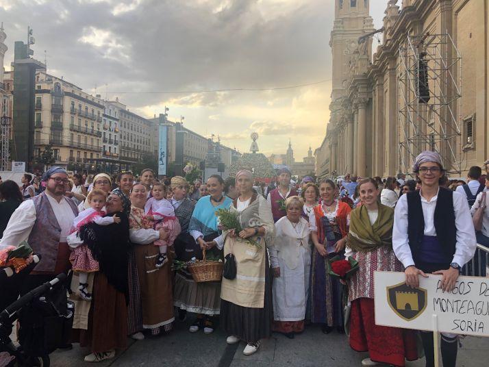 Una imagen del grupo este sábado en Zaragoza.