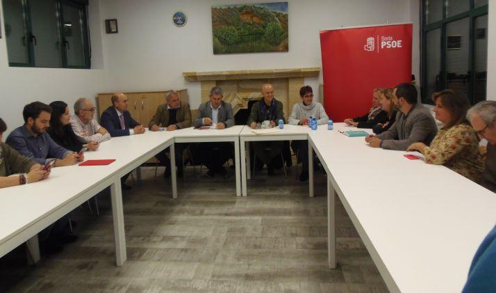 Odón Elorza durante su visita a Soria,