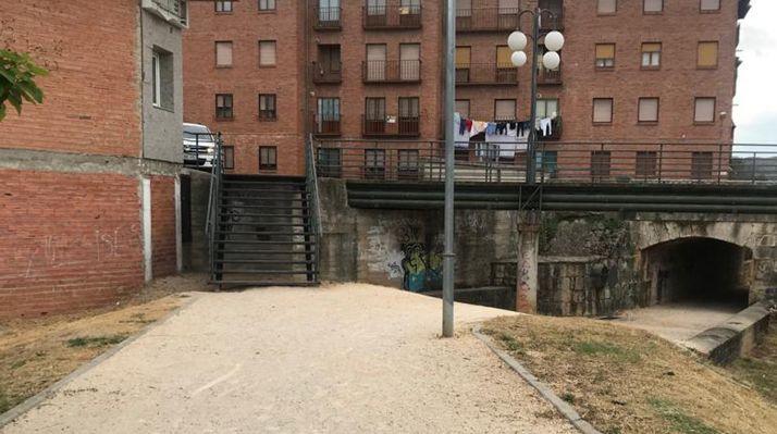 Lugar donde se instalará la rampa.