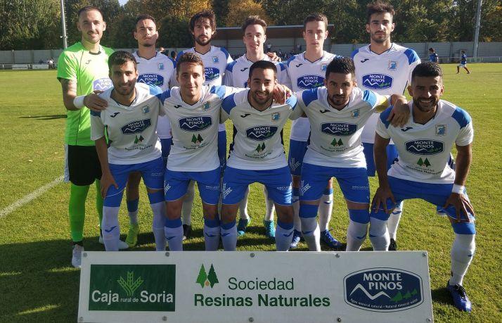 El equipo titular de la SD Almazán para el partido de este domingo.