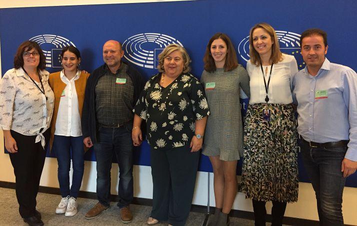 Eurodiputados y miembros de la SSPA.