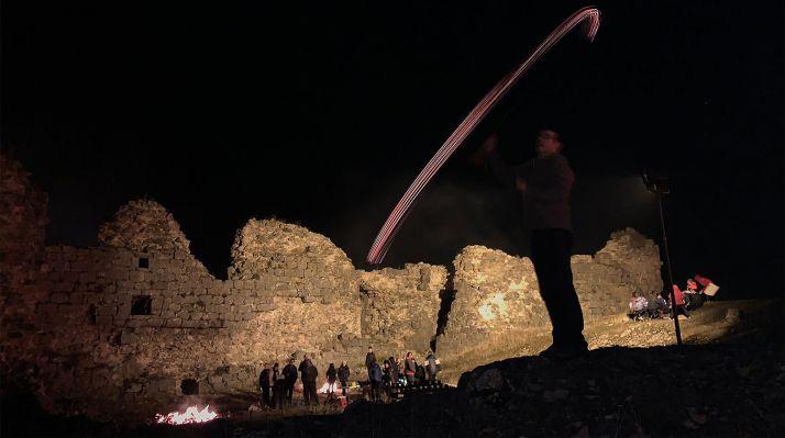 Noche de las Ánimas en el castillo de la localidad pinariega. /ASY