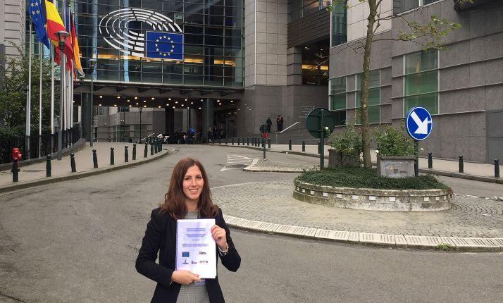 Sara Bianchi, coordinadora de la SSPA, en Bruselas. /FOES