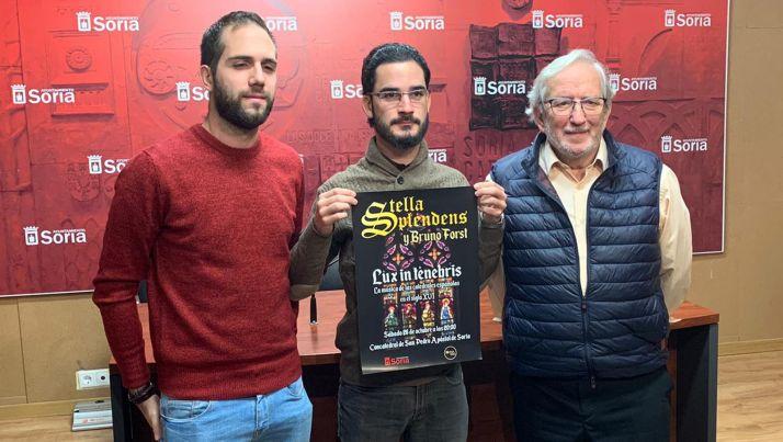 Delgado (izda.), Atienza y Bárez. /Ayto.