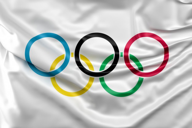 Anillas de los Juegos Olímpicos. Imagen de archivo