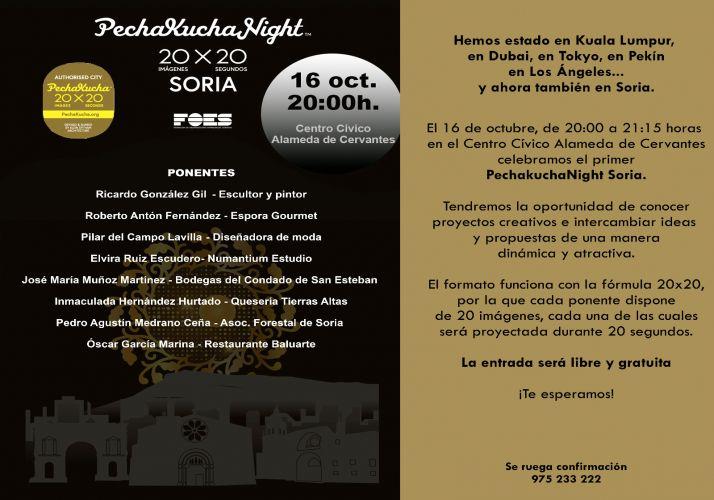Foto 2 - Después de triunfar en 1.198 ciudades del mundo llega a Soria la Pechakucha Night