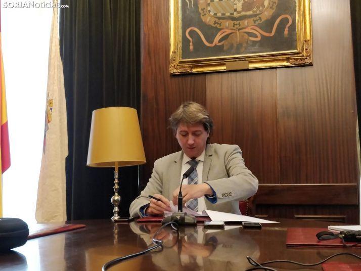 Carlos Martínez durante la rueda de prensa de hoy.SN