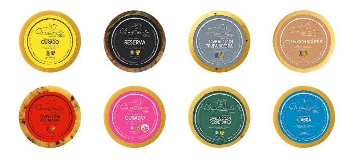 Algunos de los quesos de Queserías Oncala