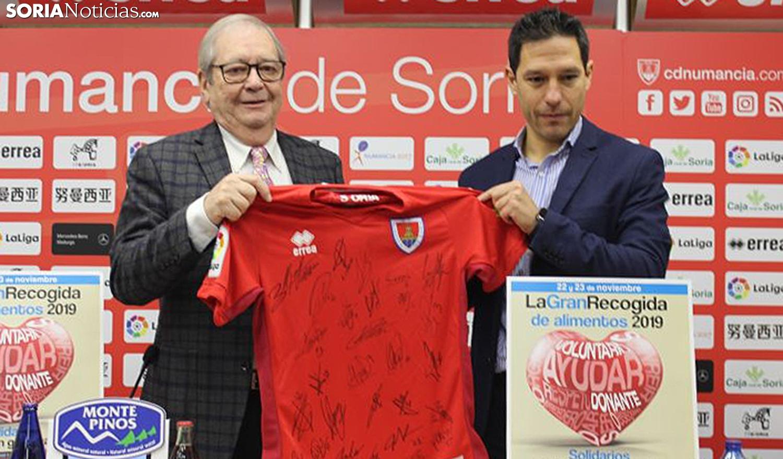 Crespo (izda.) y Del Pino, este viernes. /SN