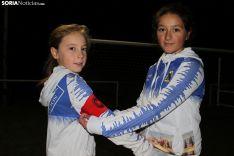 Lorena y Carla, las dos capitanas del Visontium Alevín