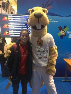 Rocío García, en Rusia, durante el Europeo Sub-23.