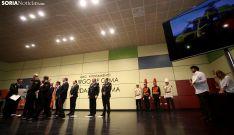 Una imagen del acto de este miércoles en El Burgo. /SN