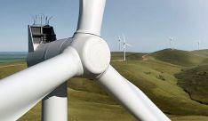 Un parque eólico con aerogeneradores de la compañía.