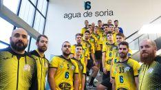 La plantilla del BMS, en las instalaciones de Agua de Soria. /BMS