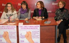 Sheila Inguaggiato (izda.), Gloria Gonzalo, Concha Redondo y Pilar de la Viña. /Ayto.