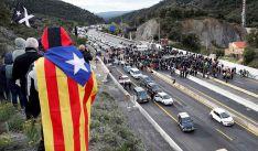 Una imagen del cierre fronterizo debido a las movilizaciones. /CTM
